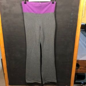 Aeropostale yoga pants grey/purple size S/P